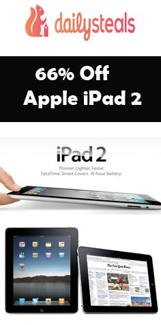 Enjoy 66% #discount on #Apple #iPad 2 with #Wifi – 32 Gb. Visit HotCouponsCode for more #coupon_codes and #discount_offers.