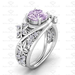 Show details for 'Novella' 1.38ct Pink and White Diamond White Gold Engagement Ring