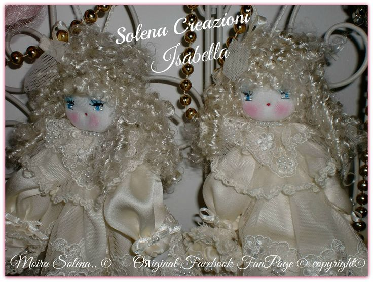 ISABELLA...le due gemelle vestite da sposa! Mi trovi su Facebook LE BAMBOLE DI MOIRA SOLENA https://www.facebook.com/LeBamboleDiMoiraSolena/