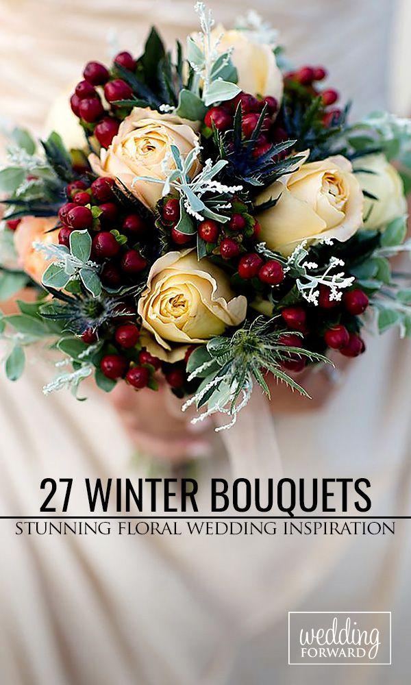 27 Stunning Winter Wedding Bouquets ❤ Cozy sweaters and half-length coats look chic with any wedding gown and create opportunity for stunning winter wedding bouquets. See more: http://www.weddingforward.com/winter-wedding-bouquets/ #weddings #bouquets Photo: Erin Costa Photography http://www.erincostaphoto.com/