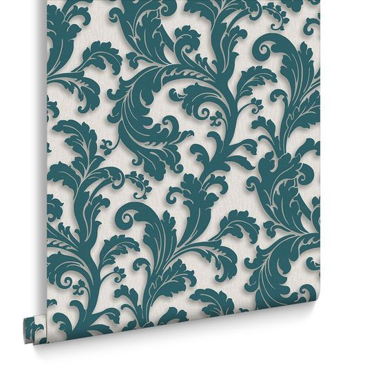 Capulet Teal Wallpaper