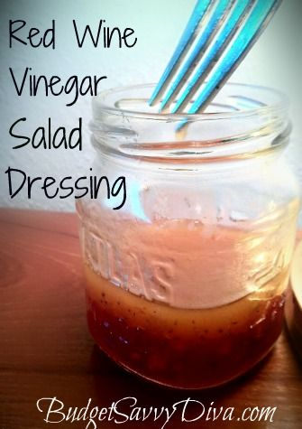 Recipe for a quick homemade dressing - made in a jar in 2 minutes. Can substitute apple cider vinegar or freshly squeezed lemon juice for red wine vinegar. I like adding a tspn each of honey & mustard too. Shake & serve. | The Micro Gardener
