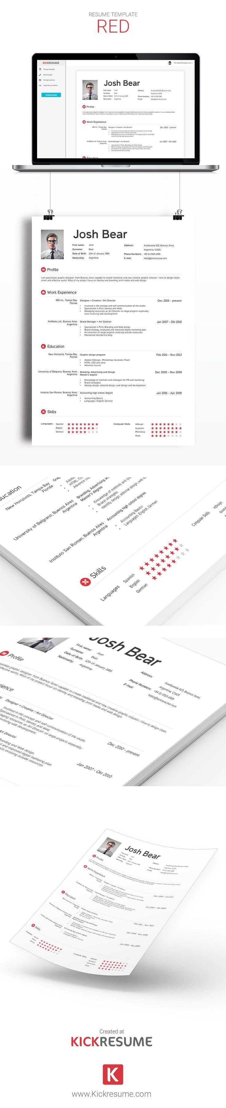 18 best Kickresume Templates Gallery (Resume samples, Resume ...