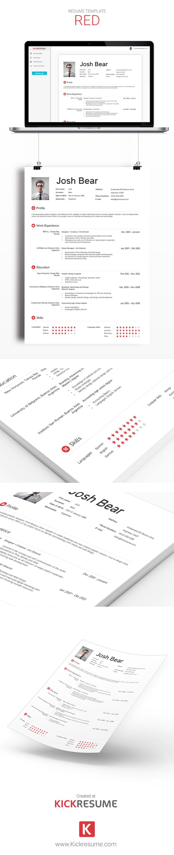 17 best images about kickresume templates gallery resume samples create beautiful resumes in minutes kickresume sample resume template resume design creative resume resume online