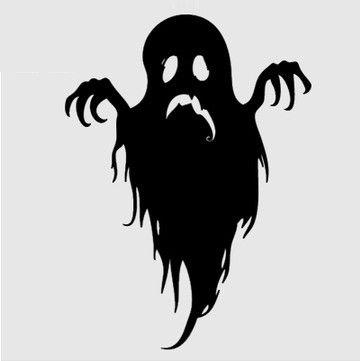 Хэллоуин Искусства Стены Наклейка Призрак хэллоуин hallowmas наклейки Бар Магазин Стекла Номер домашнего украшения