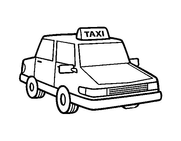 Taxi Para Colorear Coloring Pages Colorful Pictures Color