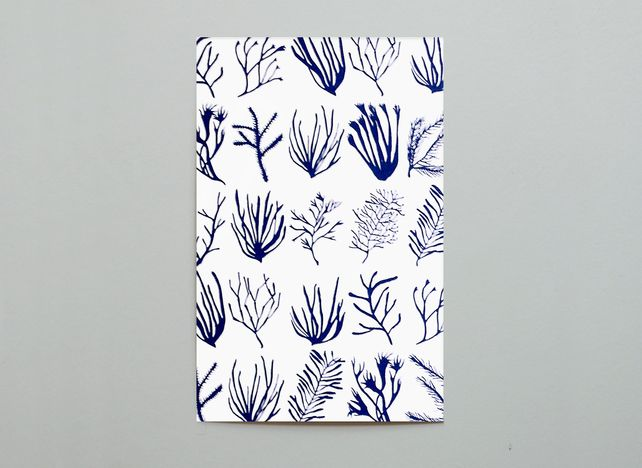 Sea Things in Blue Postcard £1.50
