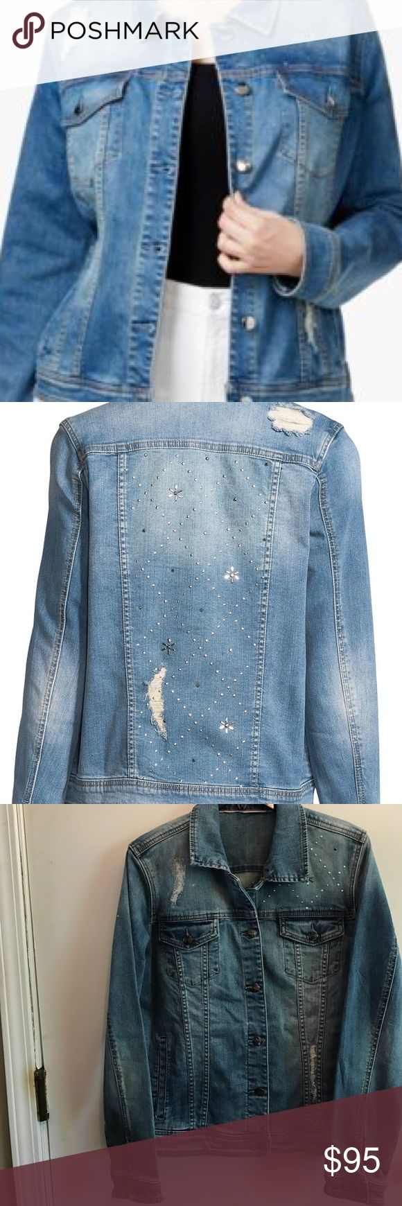 Nanette Lepore Distressed Studded DenimJacket NWOT Nanette Lepore Women's Metallic Glam Distressed Studded Denim Jacket. Go anywhere anytime comfortably in this fashionista fav! Price firm & no trades. Nanette Lepore Jackets & Coats Jean Jackets