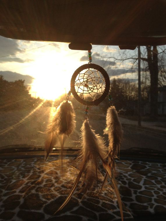 Day dream Catcher Car Mirror Ornament by AmericanAntiquitas, $14.00