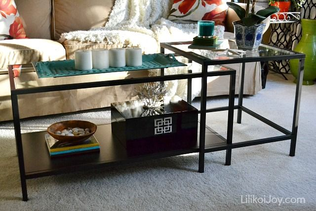 Ikea VITTSJO coffee table tabletop decorating ideas | Sofabord IKEA Vigga |  Pinterest | Dekorationsidéer, Guld och Idéer - Ikea VITTSJO Coffee Table Tabletop Decorating Ideas Sofabord