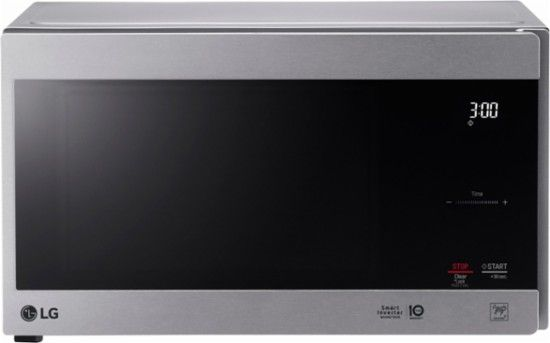 "1040 watts 14.5 ""LG - NeoChef 0.9 Cu. Ft. Compact Microwave - Stainless steel - Front_Zoom"