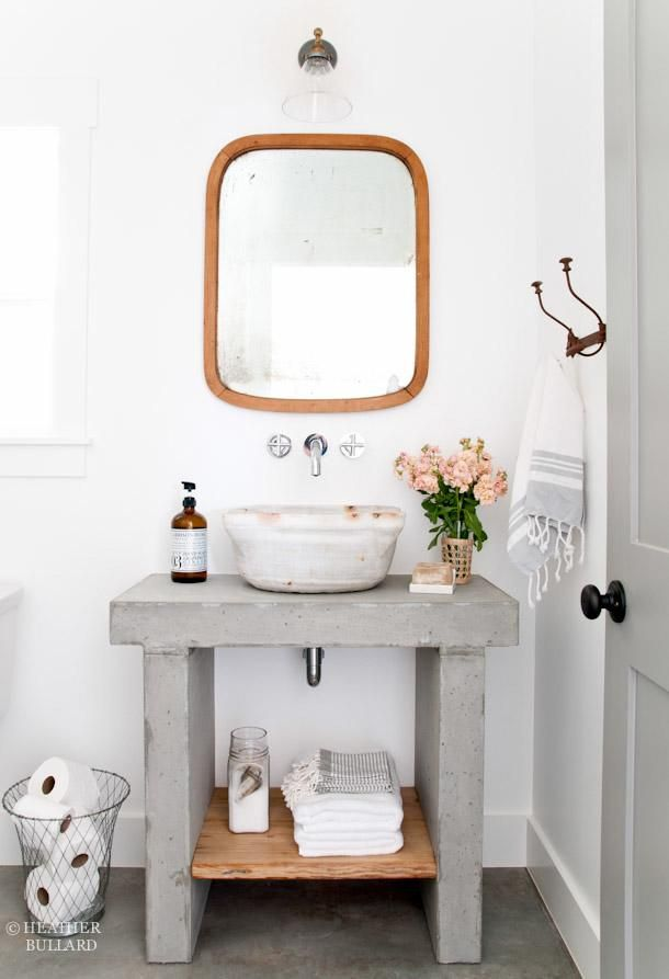 Shocking but true: This concrete vanity was a #DIY.
