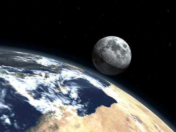 """Bildwerk """"View to moon"""""""