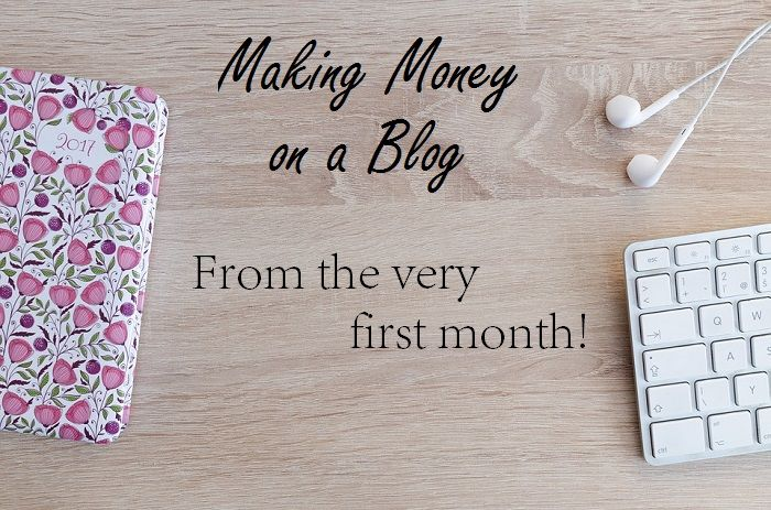 Learn how to make money blogging - starting from the first month!