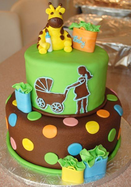 Like The Giraffe Baby Shower Cake Based On The Fisher Price Jungle Party  Decorations Mixed With