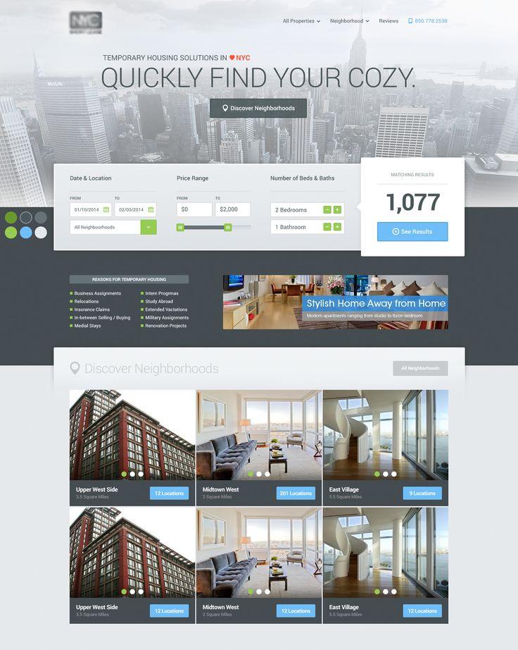 Actual-pixels David Kovalev's Property website , great UI