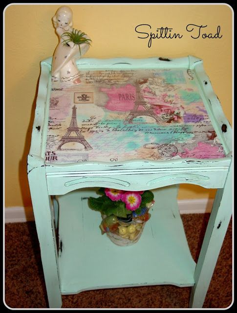 "Spittin Toad: ""Paris in Spring"" Occasional Table"
