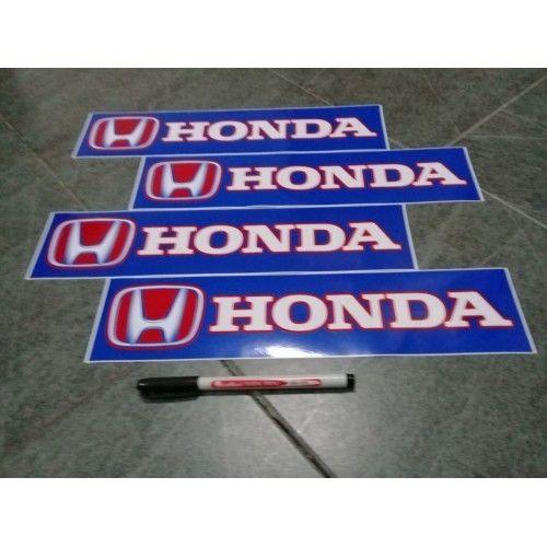Honda Car/4 X 4 Stickers 14 X 3 Inches High Grade Vinyl
