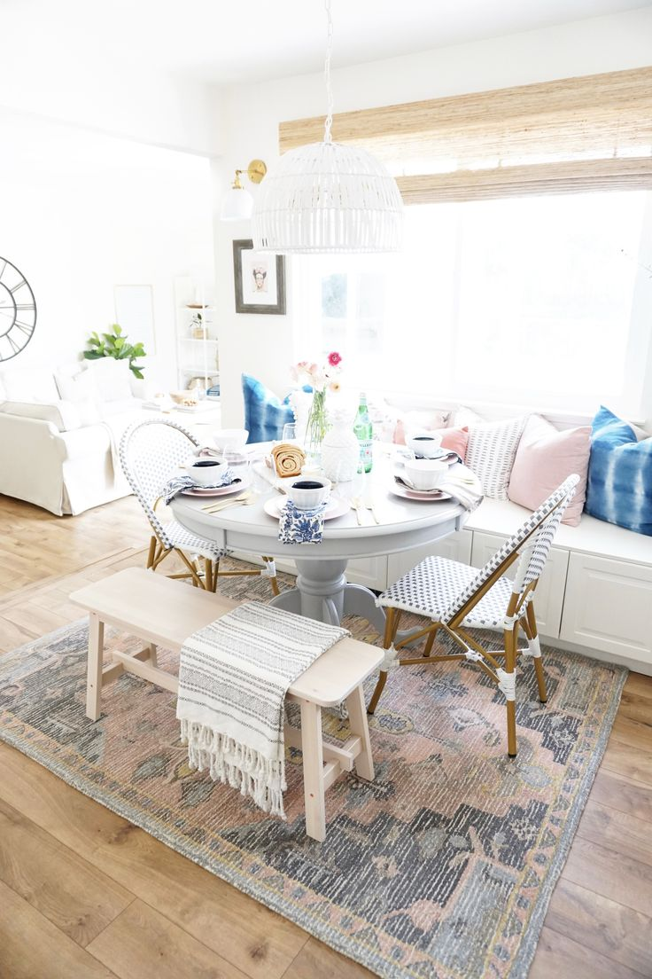 One Room Challenge: Breakfast Nook Final Reveal (Week 6). Woven Wood ...