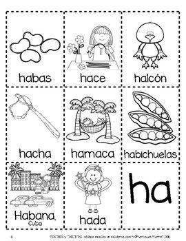 $1 until 1-17-2017!  POSTERS y TARJETAS de sílabas iniciales en palabras con h