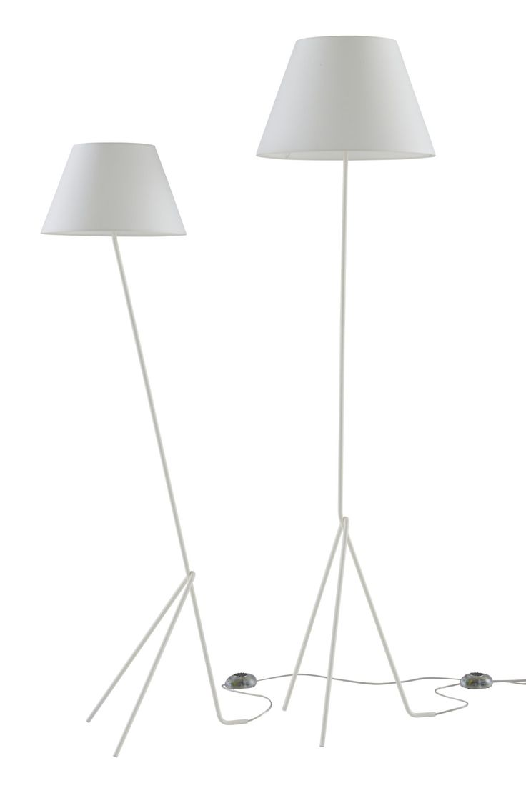 Spilla floor lights. Angled Reading light H 150 x D 41 x W 35 cm Straight Floor light H 175 x W 41 x D 35 Design: Pascal Mourgue .  The Spilla lights only come in white, the tilted reading light  and the floor light are both dimable.