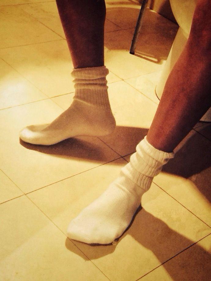 Gay white socks