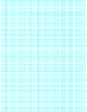 This semi-logarithmic, or semi-log, graph paper with 180 divisions (one millimeter; fifth, tenth accent) by 10 cycle segments helps when performing a semi-log plot to visualize data that has an exponential relationship. Ideal when graphing variables when there is a large range of values on one axis. Free to download and print