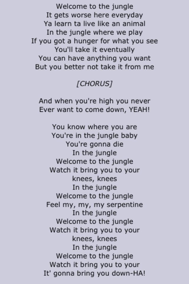 """Guns N Roses """" Welcome To The Jungle """" Second Half"""