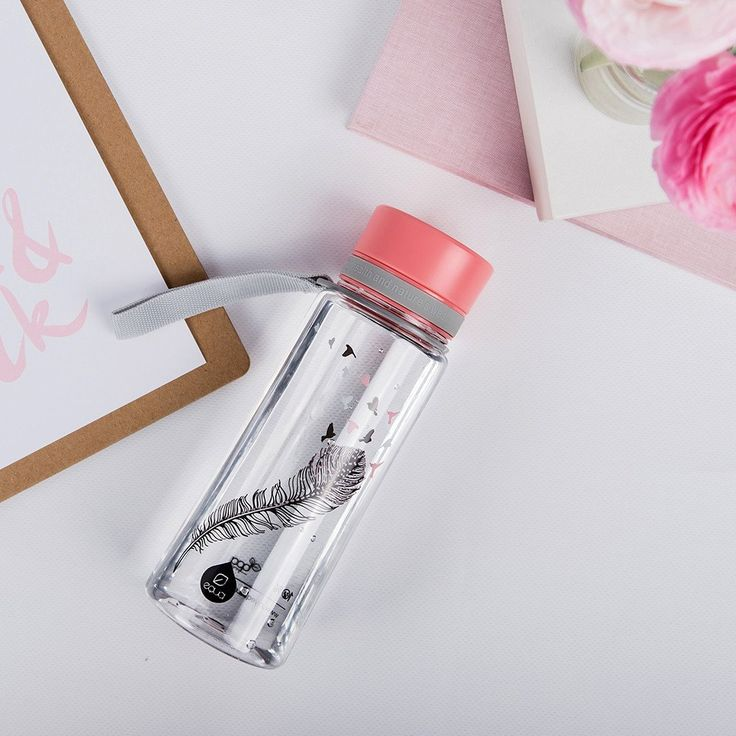 myequa equa bpafree water bottle birds pink desk situation