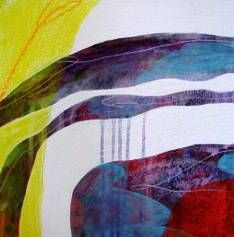 "Painting - Abstract Art by Cheryl Petersen, ""Side by Side II"""