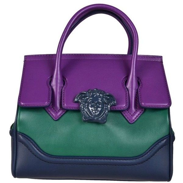 Versace Palazzo Empire Tote (96.135 RUB) ❤ liked on Polyvore featuring bags, handbags, tote bags, versace purses, tote bag purse, tote hand bags, purple handbags and handbags totes
