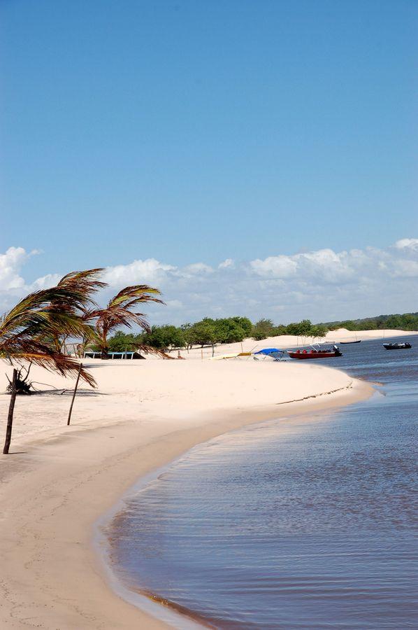 Beach of the River in Caburé by Stella Padão, Maranhão, Brazil