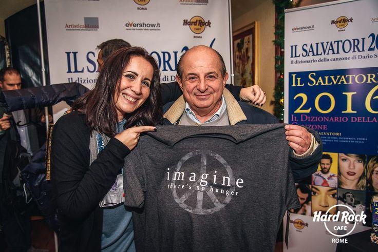 #GiancarloMagalli supports #HardRockCafe #ImagineTheresNoHunger campaign