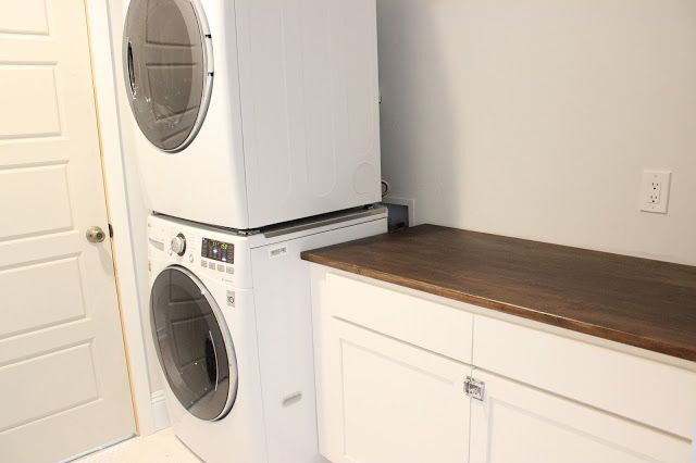 Ikea Desk Top Turned Laundry Room Cabinet Top - Dream Book Design