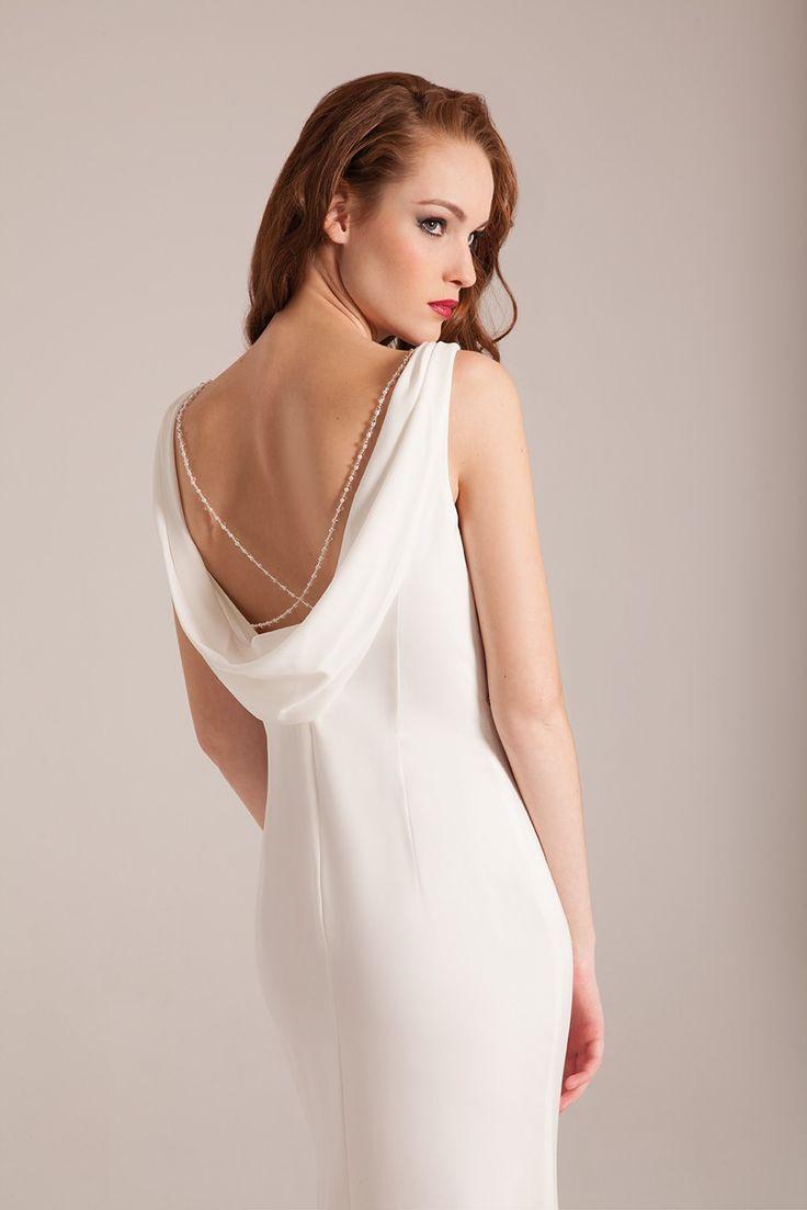 robe de mariée dos col bénitier