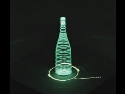 Projection mapping on bottle - YouTube