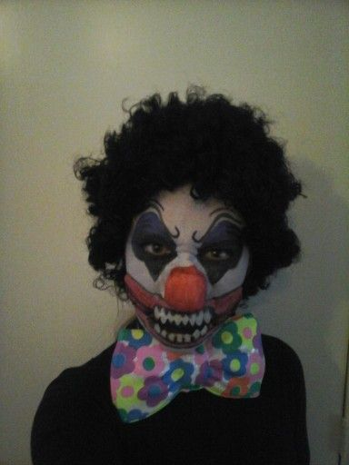 Scary clown... home made latex nose and teeth :)