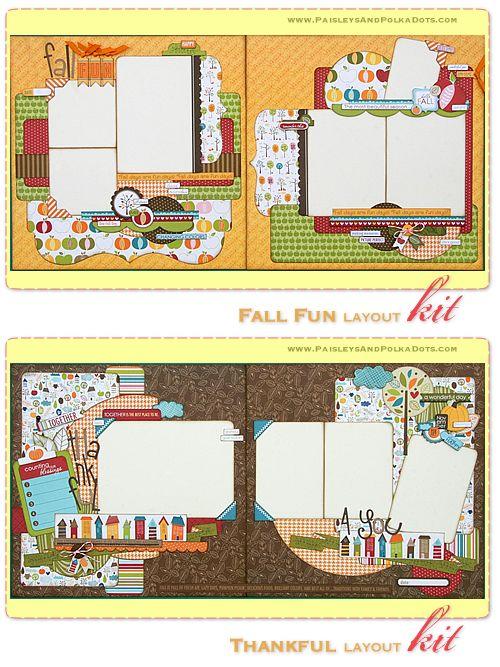 2 Page Scrapbook Layouts | Mini-Album & Scrapbook Layout Kits | ScrapClubs.com – Scrapbooking ...