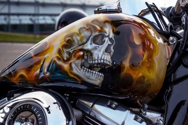 flames ghostrider chopper tank bikes harleys flames tanks skulls. Black Bedroom Furniture Sets. Home Design Ideas