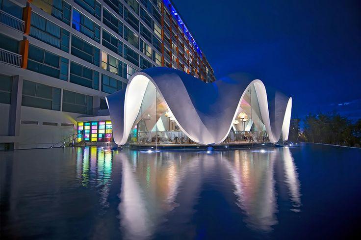 Where to Eat & Drink:The clam-shaped La Perla restaurant in Puerto Rico. #DestinationFabulous #travel