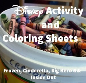Disney Activity Sheets and Coloring Pages from Cinderella, Frozen, Inside Out and More! #ytypeaparent