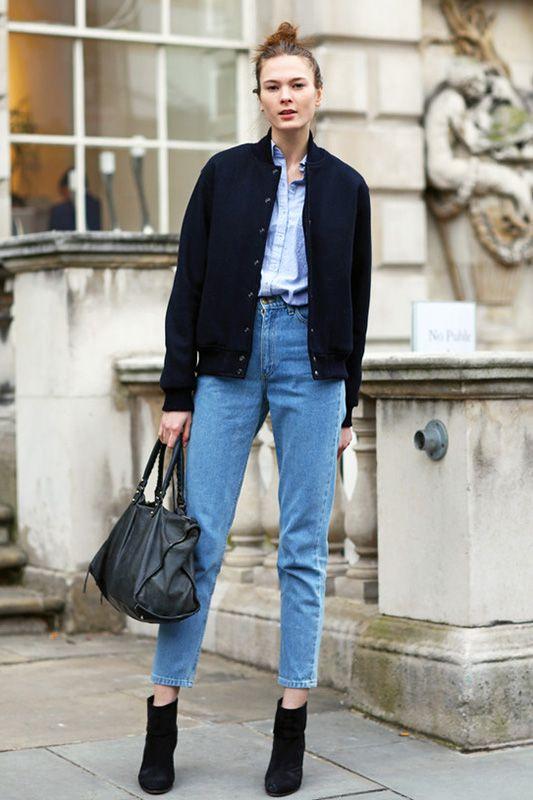 Blaues kleid jacke dazu