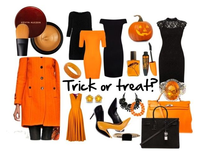 """""""Trick or treat?"""" by ritty18 on Polyvore featuring Roksanda, Hermès, Alberta Ferretti, Ted Baker, WearAll, Oasis, Flidais Parfumerie, Rimmel, Kevyn Aucoin and NARS Cosmetics"""