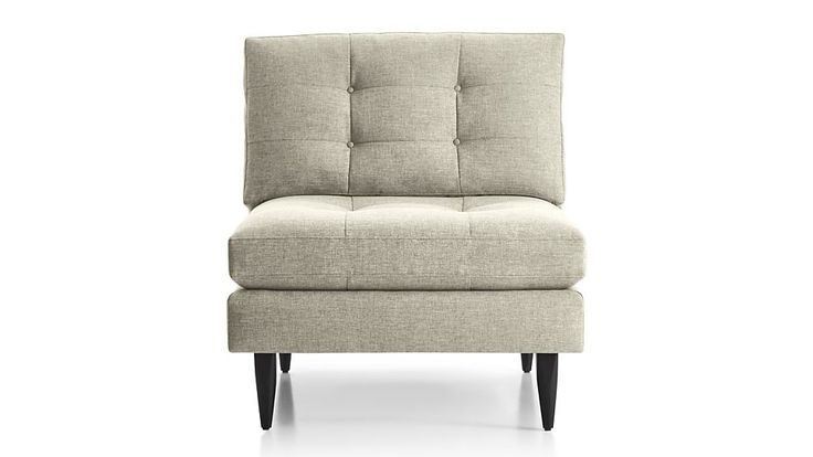 1000 ideas about armless chair on pinterest loveseat for Crate and barrel armless chair
