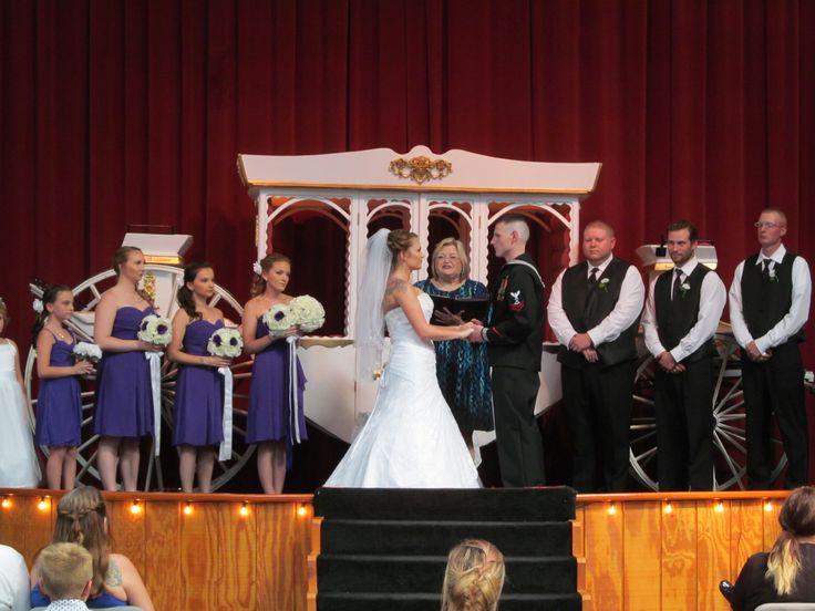 Indoor Ceremony Onstage At The Yellow Barn Weddings Receptions Virginia Shenandoahvalley