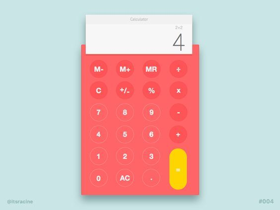 Daily UI #004 - Calculator by Racine Davis