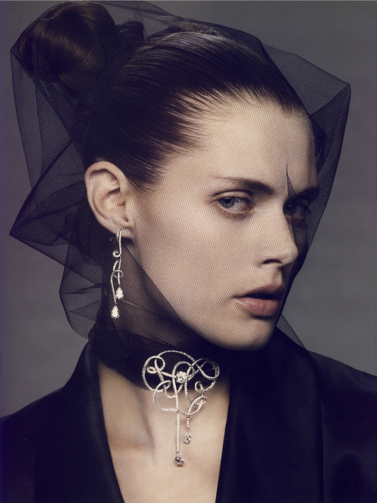 ☫ A Veiled Tale ☫ wedding, artistic and couture veil inspiration - Malgosia Bela by Mark Segal for Vogue Paris