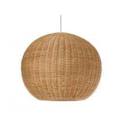Wicker Ball Pendant Lamp - Natural