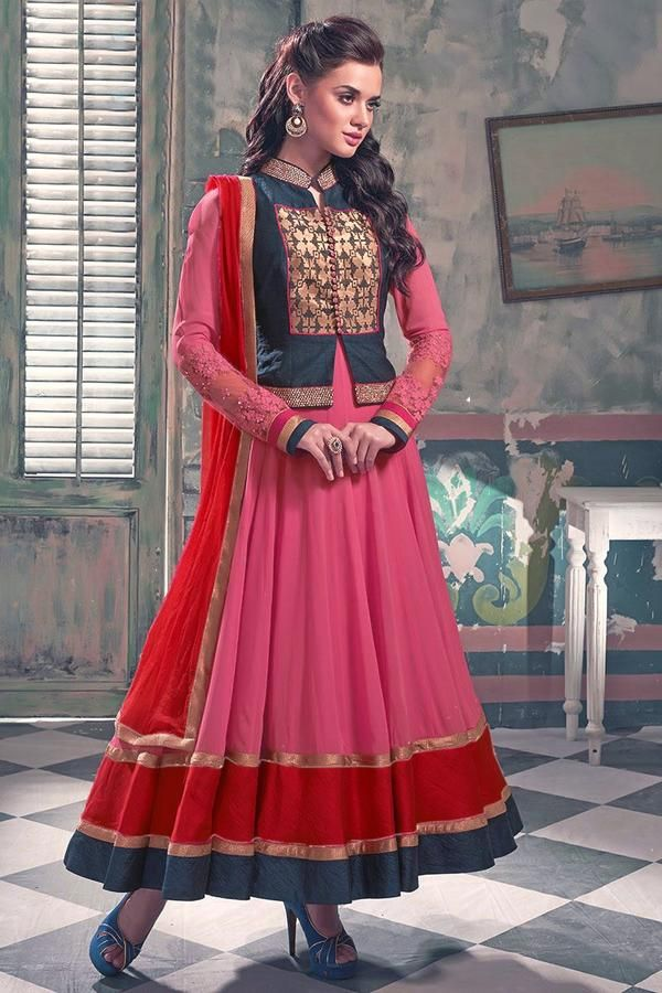 #VYOMINI - #FashionForTheBeautifulIndianGirl #MakeInIndia #OnlineShopping #Discounts #Women #Style #EthnicWear #OOTD #Suit #Anarkali Only Rs 2541/, get Rs 471/ #CashBack, ☎+91-9810188757 / +91-9811438585
