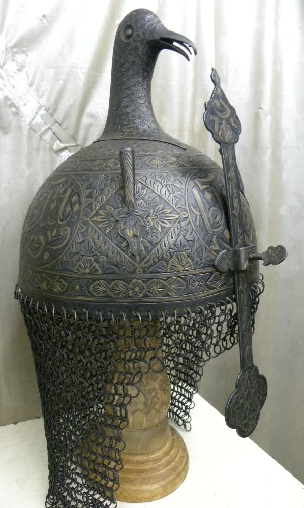 Copy of OTTOMAN TURKISH ISTANBUL ISLAMIC WARRIOR HELMET BIRD